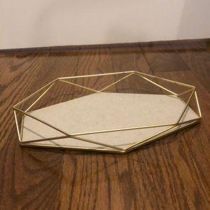 NWT Umbra gold tray